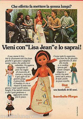 Pubblicità Advertising 1975 FURGA Lisa Jean effetto gonna lunga