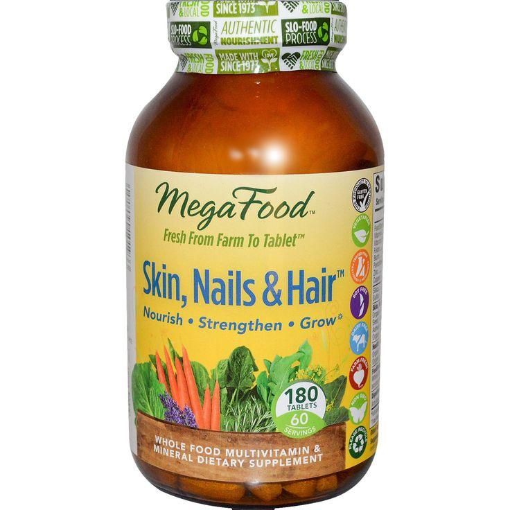 MegaFood, Skin, Nails & Hair, 180 Tablets - iHerb.com