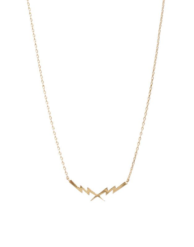DOUBLE LIGHT BOLT NECKLACE - Rings & Tings | Online fashion store | Shop the latest trends