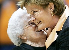 Pat Head and her mom -- love this!