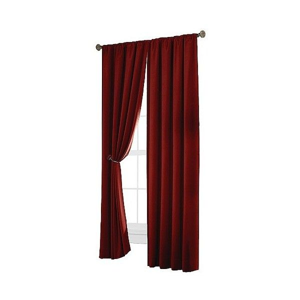 Thermal Shield Velvet Blackout Curtain Panel   Red ($45) ❤ Liked On  Polyvore Featuring