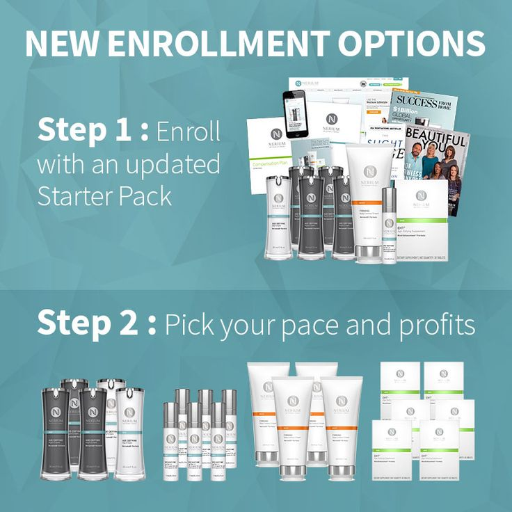 Choose between the Starter Pack ($499.95 USD) or the Basic Kit ($49.95 USD) at Brand Partner Enrollment to get your Nerium business off the ground. http://haveamazingskin.nerium.com