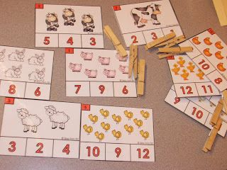 Free Count and Clip farm themed cards.  math, prek, kindergarten, math centers…