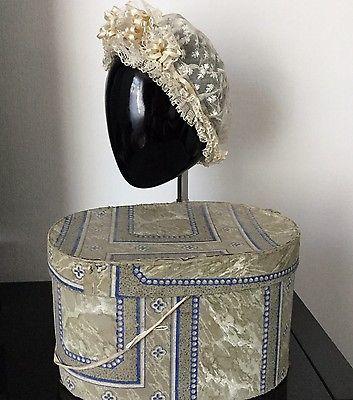 Rare Coiffe et Boite A Chapeau XVIIIè Papier Peint ANTIQUE GEORGIAN Box 18thC | eBay