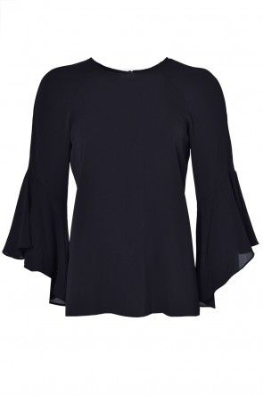 Darlene Frill Top in Black