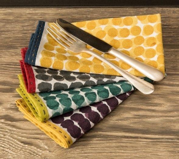 Serviettes Suni de Caravane décoration Paris en coton imprimé #artdelatable #serviettedetable