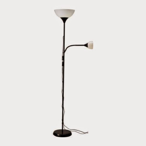 """Sale Off 54% IKEA """"NOT"""" Floor Uplight Or Reading Lamp, Black, White - Store Online for Your Live and Style"""