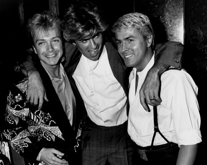 George Michael with David Cassidy and Mike Nolan