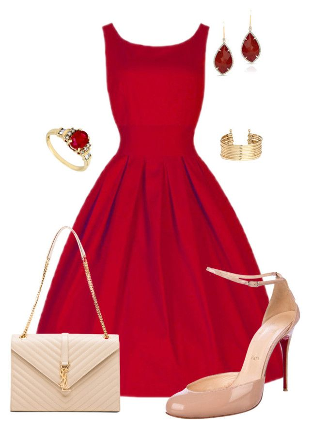 """""""Untitled #512"""" by angela-vitello on Polyvore featuring Christian Louboutin, Yves Saint Laurent and H&M"""