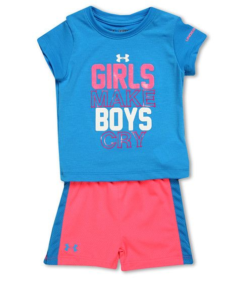 Under Armour Kids Girls Rule Tee Set (Infant)