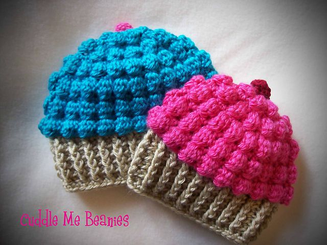 Yummy CupCake Beanie Pattern I need to learn to crochet just to make this!