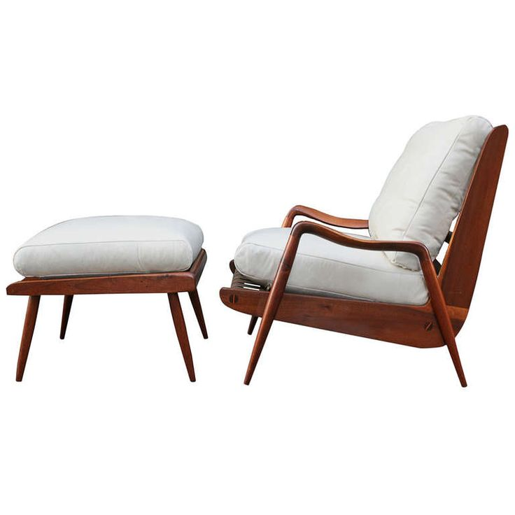New Hope Lounge Chair And Ottoman By Phillip Lloyd Powell. C. 1960