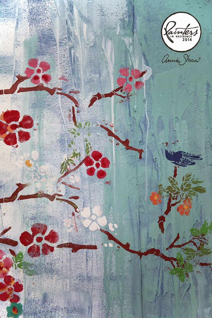 Janice Issitt, Annie Sloan's Painter in Residence, Chinese Inspired Wall Art painted using Chalk Paint®.