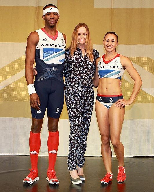Phillips Idowu, Stella McCartney and Jessica Ennis - London 2012 Olympics - Icon, worked closely with adidas to deliver the launch of Team GB's athletes' kit