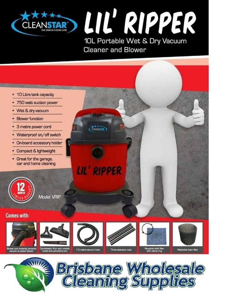 Lil Ripper 10L Commercial Wet Dry Vacuum Cleaner, AU$125.24