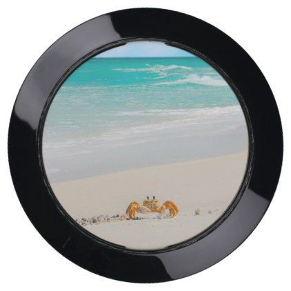 #personalize - #Cute Crab on a Tropical Beach USB Charging Station