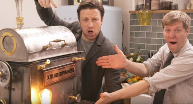 The Christmas Dinner Spinner With Jamie Oliver And Colin Furze