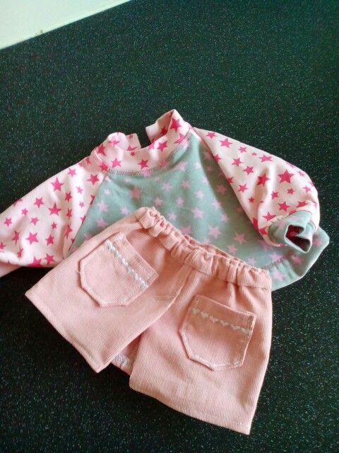 Rokje en shirtje voor babyborn