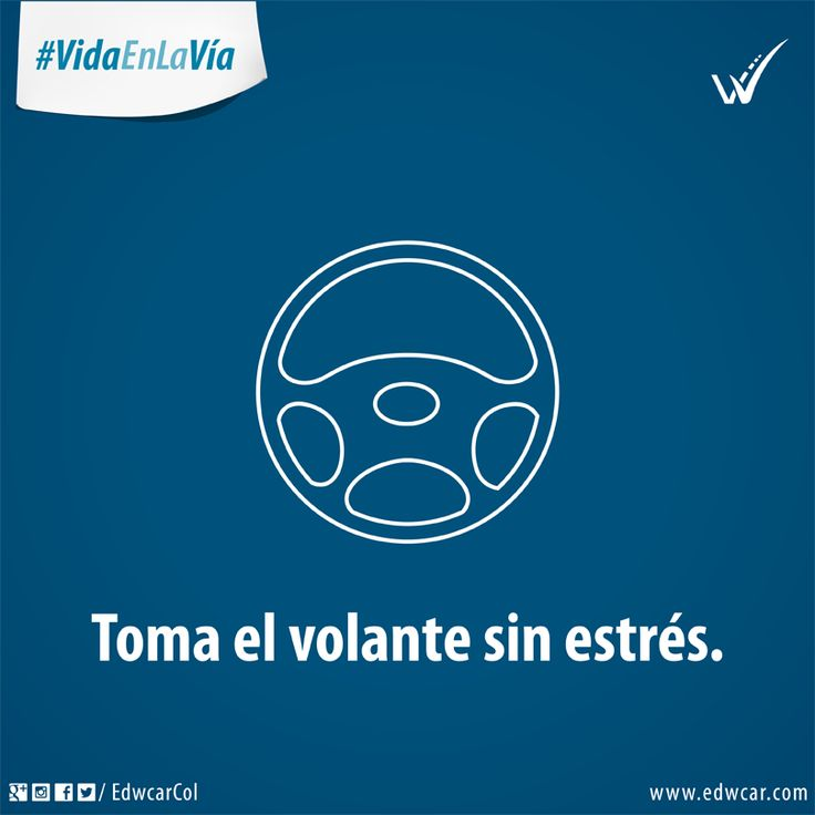 Que la calma sea uno de los mejores aliados a la hora de conducir. #VidaEnLaVía. Conducir. Relax. Estrés. Seguridad vial. Cultura Vial. Bogotá.