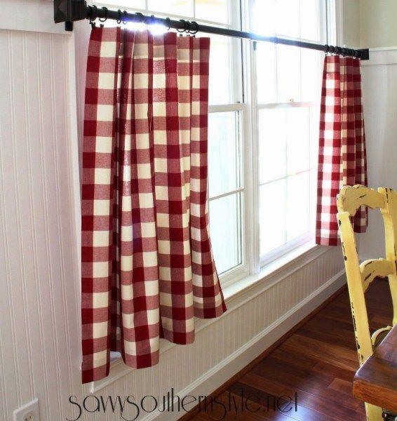 9 DIY Tutorials How To Make NO-SEW Curtains
