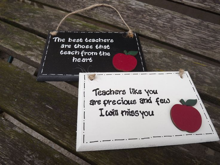 THANK YOU TEACHER wooden plaque - hand-painted, with personalised message. Ideal end of term gift for your favourite teacher by KatijanesCreations on Etsy