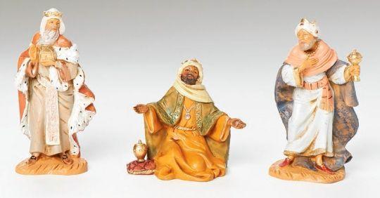 Fontanini 5 Inch Scale 3 Kings - Wisemen