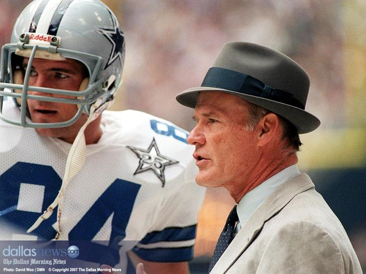 Any one of us who watched any pro football in the 70's knew this guy - Tom Landry - always wearing these hats on his head growling from the sidelines at the team he coached..the Dallas Cowboys...Today he was born in 1924 - 89 yrs ago. He was often a coach football fans (who were not Dallas fans) loved to hate...he sure was a winning coach...The Cowboys were awesome in the 70s & 80s...Landry coached the Cowboys from 1960 all the way 'till 1988! That's a lot of yrs. He passed in 2000 on Feb…
