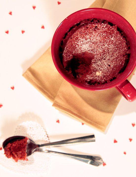 Crave-Worthy Red Velvet Microwave Mug Cake For 2
