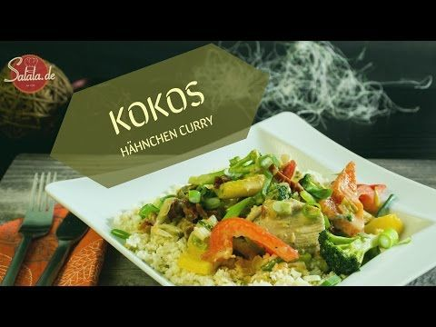 Kokos Hähnchen Curry - Low Carb und glutenfrei - salala.de - Low Carb mit Vroni & Nico