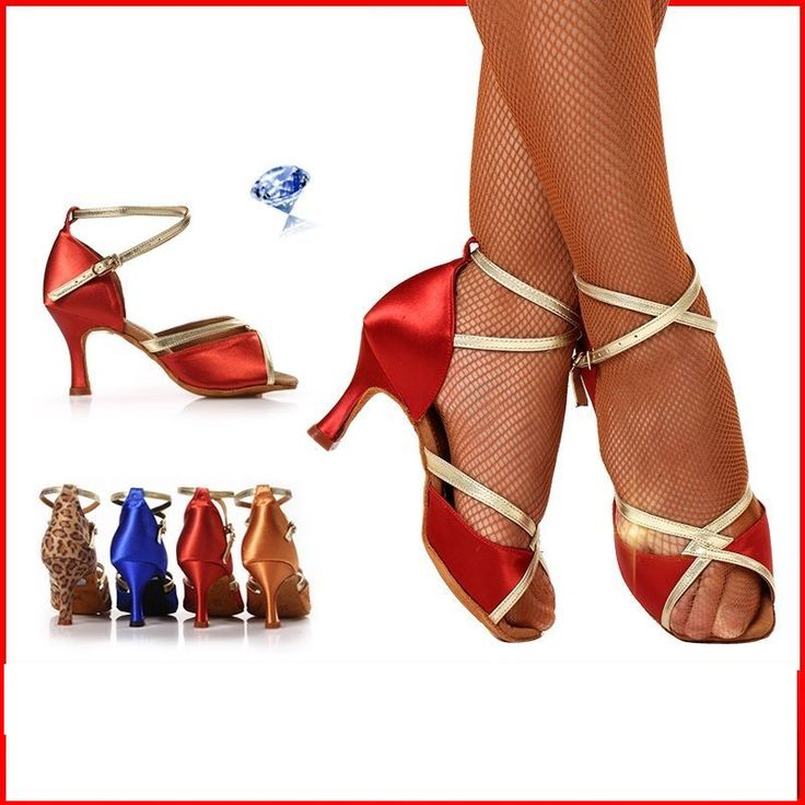 BD 2318 Breathable friendship Mid heel Dance shoes Latin Imported satin Global The most popular shoes Professional Latin shoes
