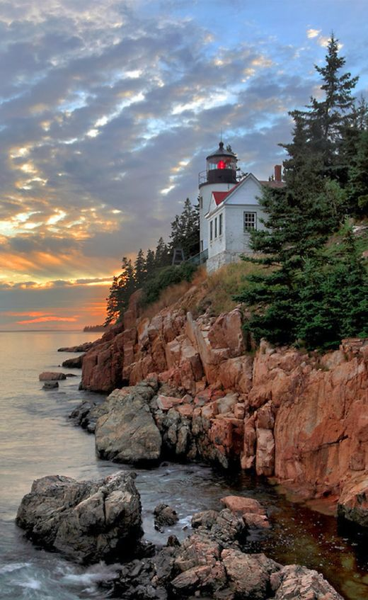 Bass Harbor Head Lighthouse in Acadia National Park, Maine • photo: Rob…