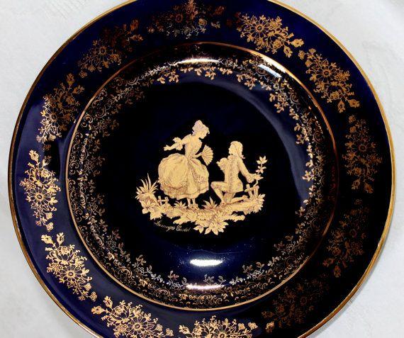Vintage Art Deco Limoges Castel France Plate 22 By Annelesattic 163 39 95 Porcelaine Limoges