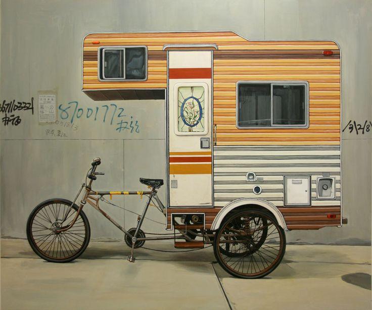 un modo ecologico di viaggiare in camper! La bici-camper di Kevin Cyr