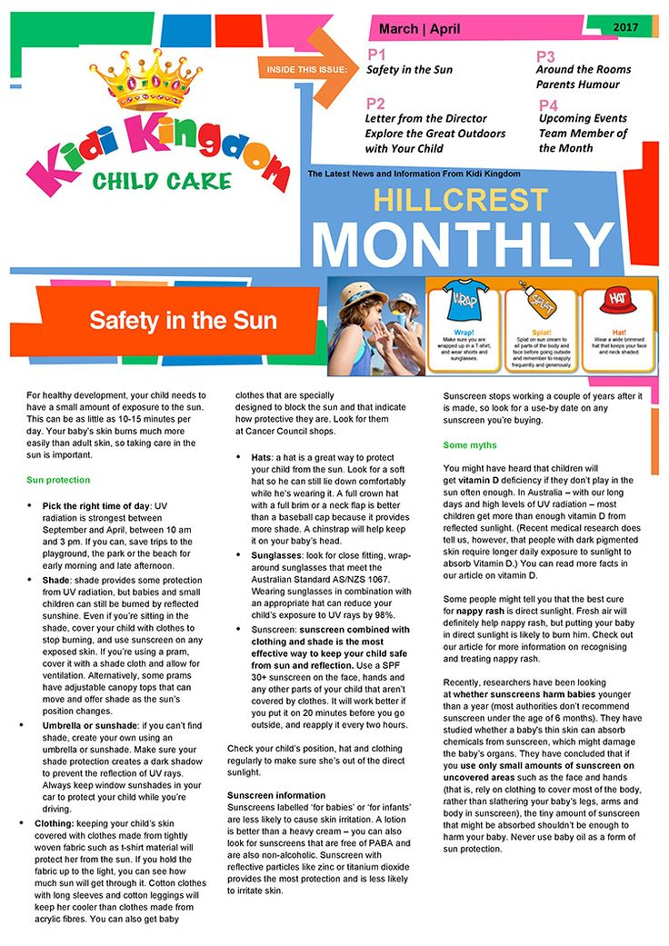 Welcome to the March / April Edition of Kidi Kingdom - Hillcrest News.  #Newsletter #ChildCare #Kindergarten #ChildrenFun #HappyChildren