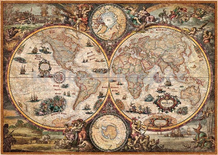 Svět - nástěnná mapa Ray World Vintage | Království Map