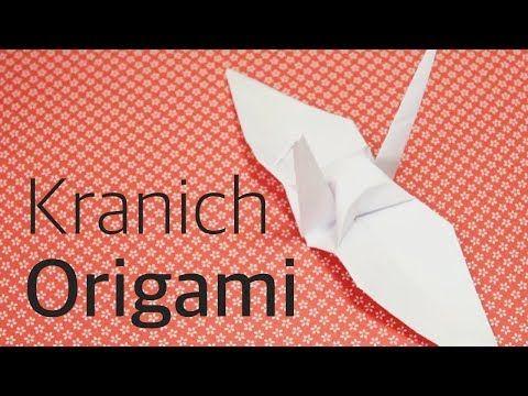 Origami Kranich falten langsam deutsch Origami leicht