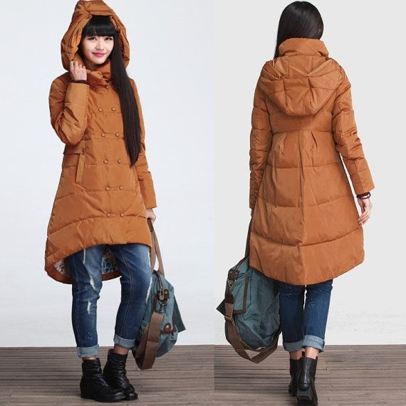 Winter hooded coat asymmetrical cotton padded coat by deboy2000