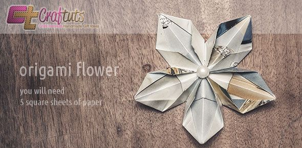 Super easy diy Origami Flower Decoration. just did it!
