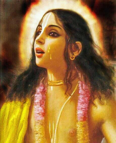 """If someone can attain the supreme goal of life by devotedly hearing about, meditating upon, or glorifying Lord Murari, then that is very good for him. Let him do it. For myself, however, I shall only worship the hidden sweetness that fills the great shoreless nectar ocean of pure love of Krsna that flows from Lord Gauranga."" -Prabhodananda Sarasvati"