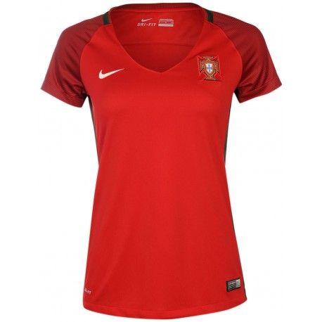 Maillot Portugal Femme  2016/2017  Officiel EURO 2016 Domicile. Flocages Personnalisés Disponibles.