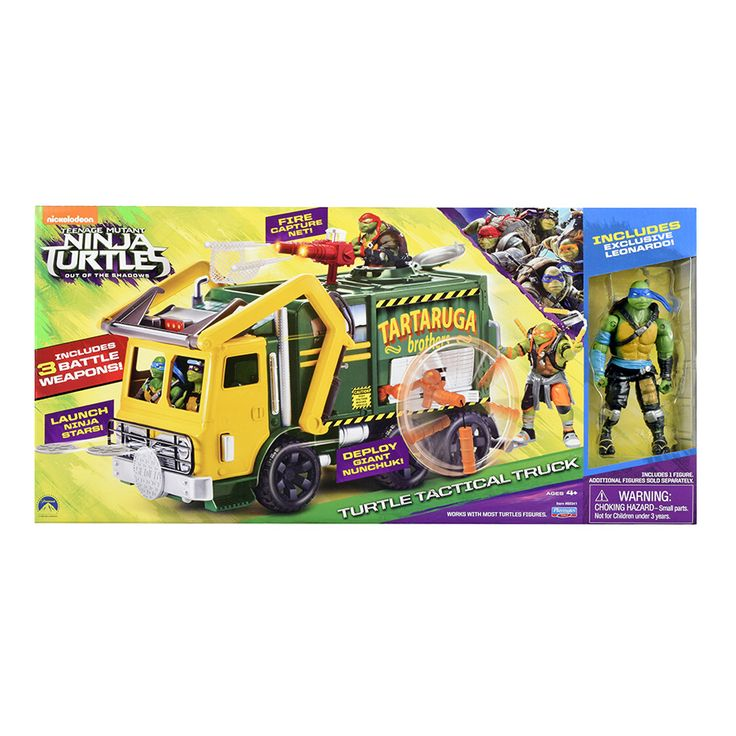 "Teenage Mutant Ninja Turtles Movie Garbage Truck with Leonardo Figure | Toys""R""Us Babies""R""Us Australia"