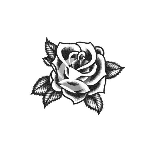 Blackwork Rose Traditional Rose Tattoo Black Rose Tattoo Blackwork Rose Temporary Tattoo Rose Tattoos For Men Traditional Rose Tattoos Black Rose Tattoos