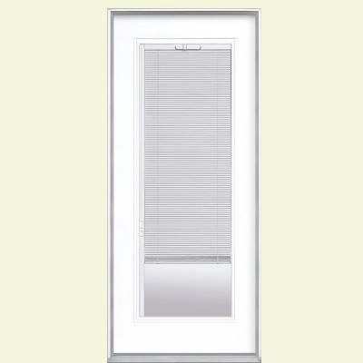 Masonite 32 in x 80 in full lite mini blind left hand - Installing prehung exterior door on concrete ...