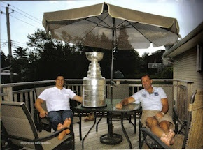 Just Chillin'....Sidney and Troy Crosby