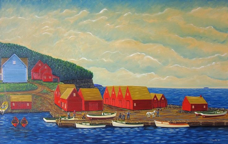 """Fall Haul Out"" by John Neville of Hall's Harbour"