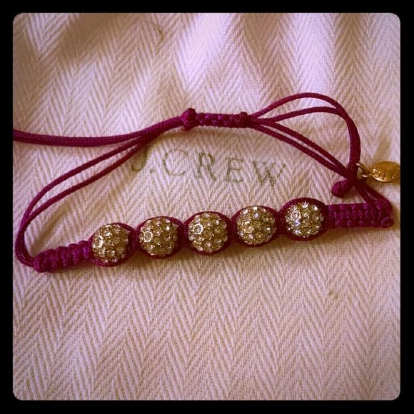 J  Crew bracelet J  Crew Bracelet with adjustable strings  Pave crystals  J  Crew Jewelry Bracelets