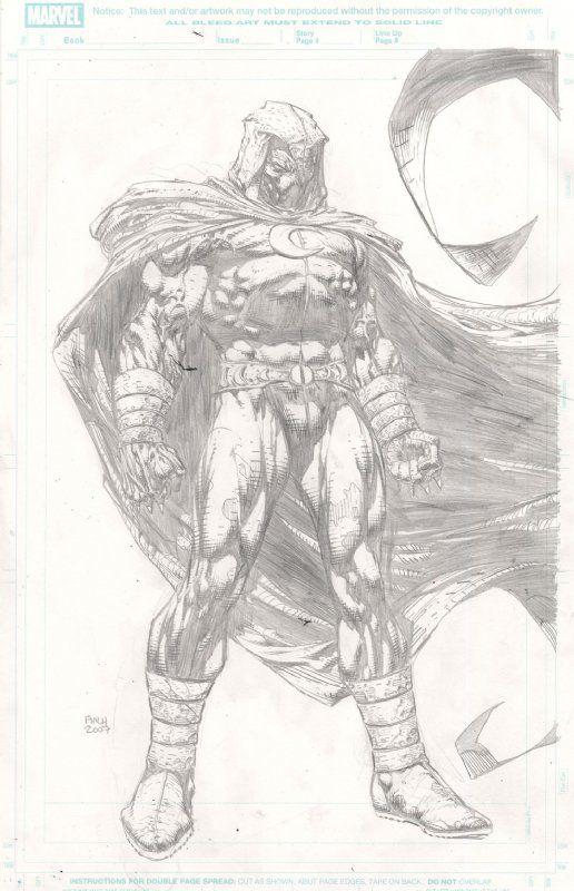 Moon Knight - David Finch Comic Art