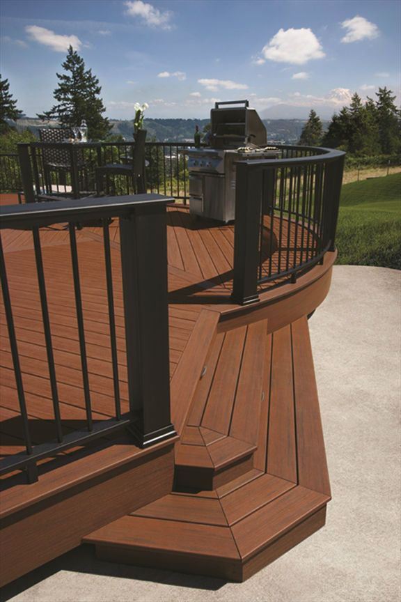 how to finish stairs with composite decking
