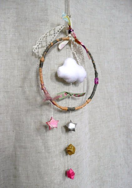 Attrape r ve in the clouds pinterest dream catchers nurseries and mobiles - Diy attrape reve ...