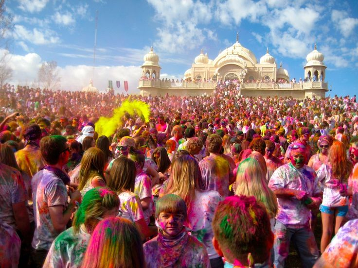 I recommend attending the color festival. So #colorful! Enjoy Holi Festival at the Krishna Temple in Spanish Fork. Always a fun event...